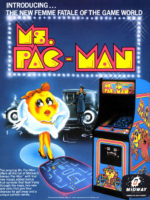 Ms. Pac-Man — 1981 at Barcade® in Newark, New Jersey | arcade video game