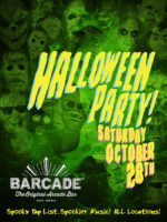 Barcade Halloween Party — October 28, 2017 in Newark, NJ | Spooky Tap List and music play list