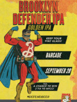 Brooklyn Defender Pint Night — September 28, 2017 at Barcade® in Newark, N.J.