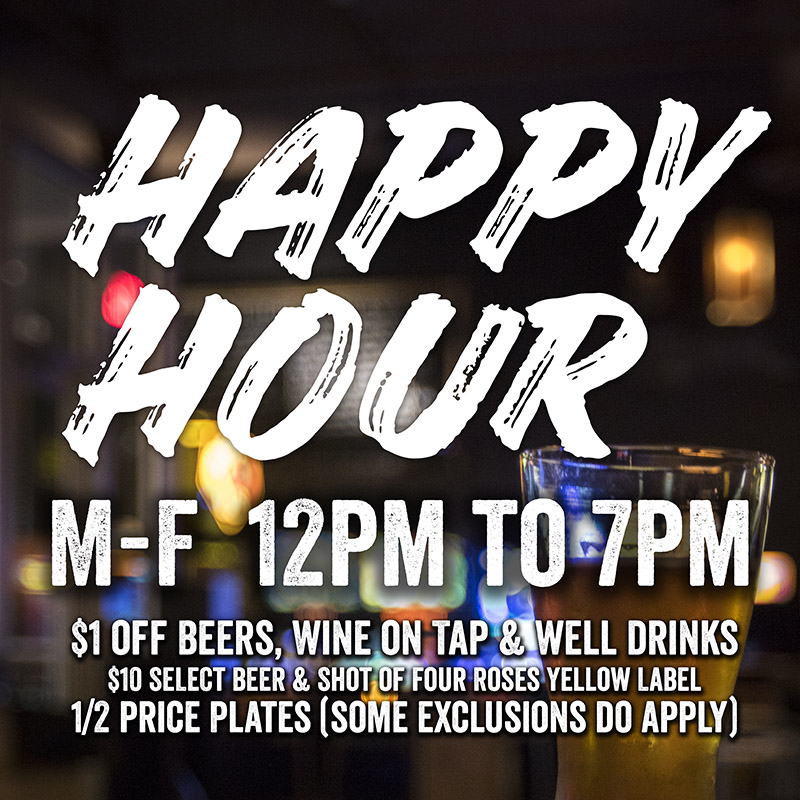 Barcade® Newark HappyHour M-F 3pm to 7pm $2 off Beers, Wine on Tap & well drinks | Select Beer & Shot of Four Roses Yellow Label – $10 | 1/2 price Plates (some exclusions do apply)
