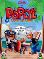 Popeye Saves the Earth (pinball) — 1994 at Barcade® in Newark, NJ