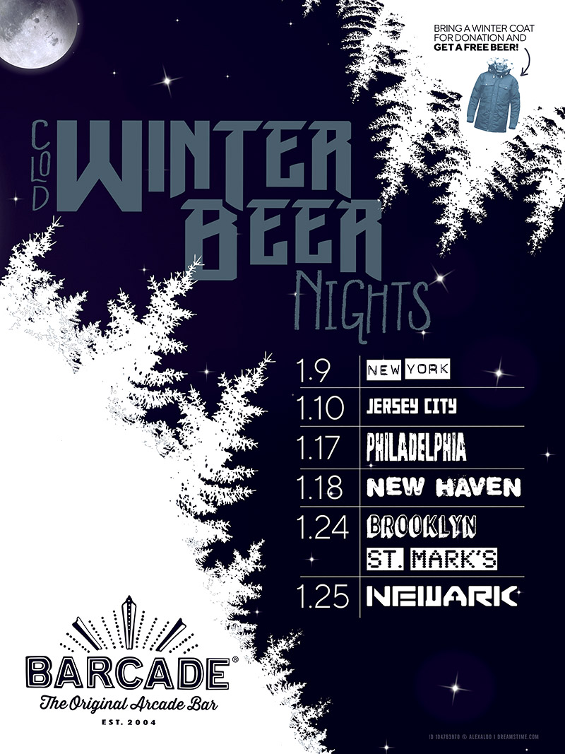 Winter Beer Night — January 25, 2019 at Barcade® in Newark, New Jersey