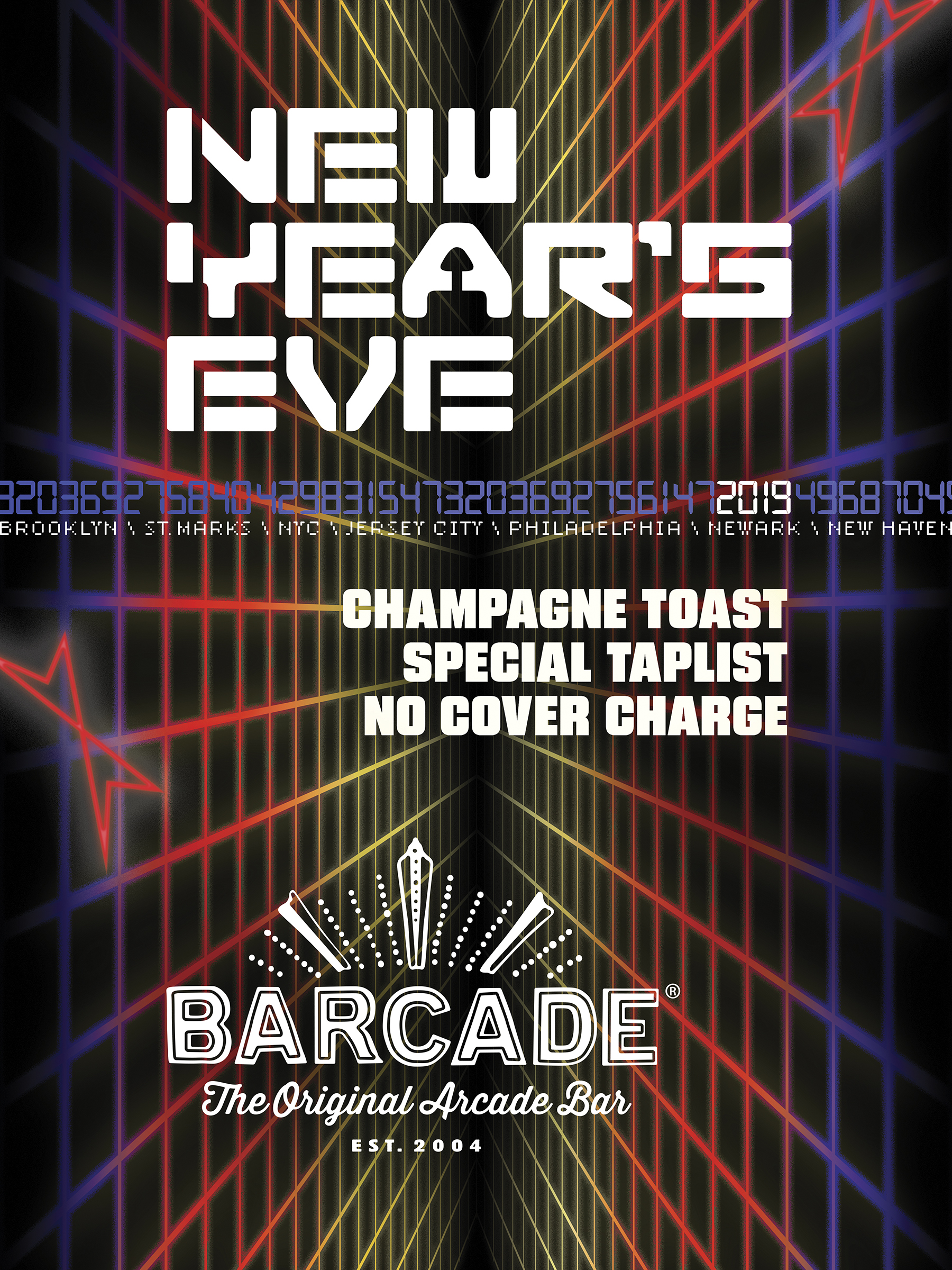New Year's Eve Party—Monday, December 31st at Barcade in Newark, New Jersey