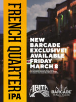 Exclusive Beer Launch: ABITA FRENCH QUARTER IPA — March 8th, 2019 at Barcade® in Newark, NJ