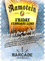 Ramstein Beer Night — February 22, 2019 at Barcade® in Newark, NJ | Hight Point Brewing
