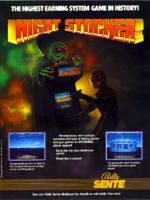 Night Stocker — 1986 at Barcade® in Newark, New Jersey | arcade video game flyer