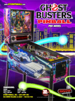 Ghostbusters (pinball) — 2016 at Barcade® in Newark, New Jersey | arcade game flyer