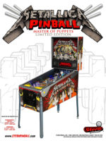 Metallica Limited Edition (pinball) — 2013 at Barcade® in Newark, New Jersey | arcade game flyer