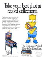 The Simpsons (pinball) — 1990 at Barcade® in Newark, New Jersey | arcade game flyer
