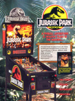 Jurassic Park (pinball) — 1993 at Barcade® in Newark, New Jersey | arcade game flyer