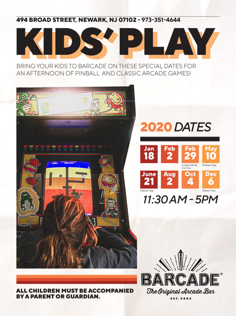 Family Day at Barcade on Saturday, February 29th 2020 in Newark, NJ