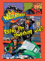 Wild Riders — 2001 at Barcade® in Newark, New Jersey | arcade game flyer