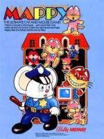 Mappy — 1983 at Barcade® in Newark, New Jersey | arcade game flyer