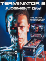 Terminator 2: Judgement Day (pinball) — 1991 at Barcade® in Newark, New Jersey | arcade game flyer